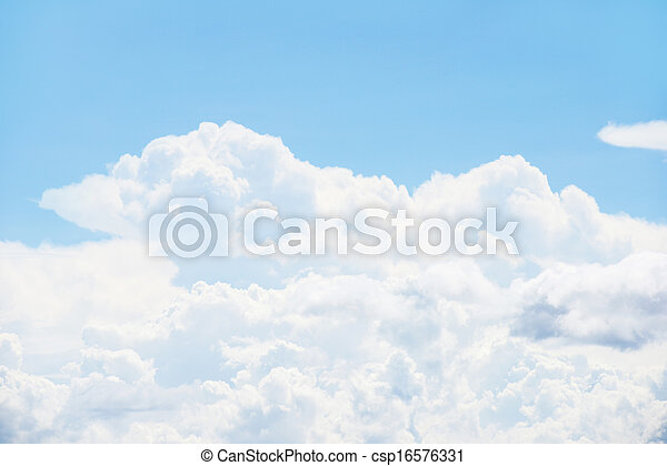 Blue sky and clouds - csp16576331