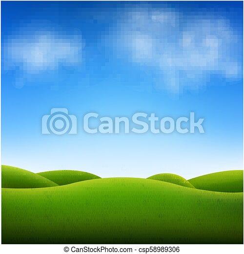 Blue Sky And Landscape - csp58989306
