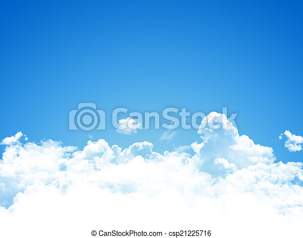 blue sky background - csp21225716