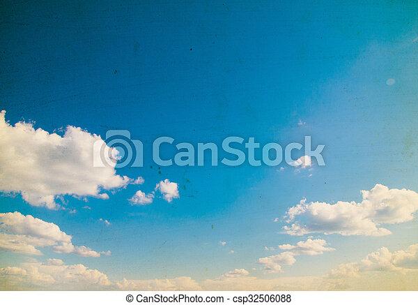 Blue sky background - csp32506088
