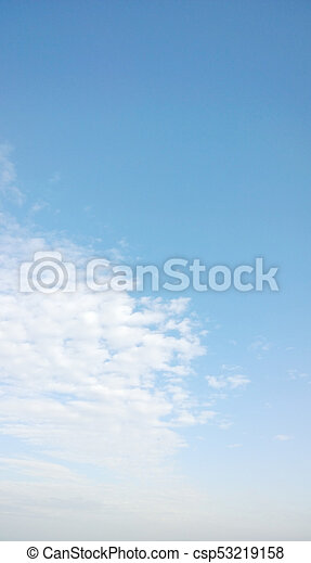 Blue sky background - csp53219158