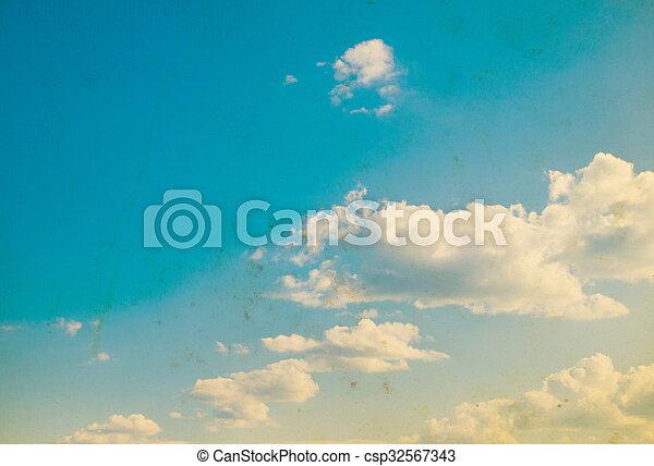 Blue sky background - csp32567343