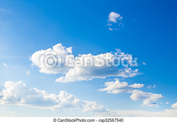 Blue sky background - csp32567540