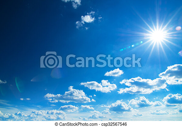 Blue sky background - csp32567546