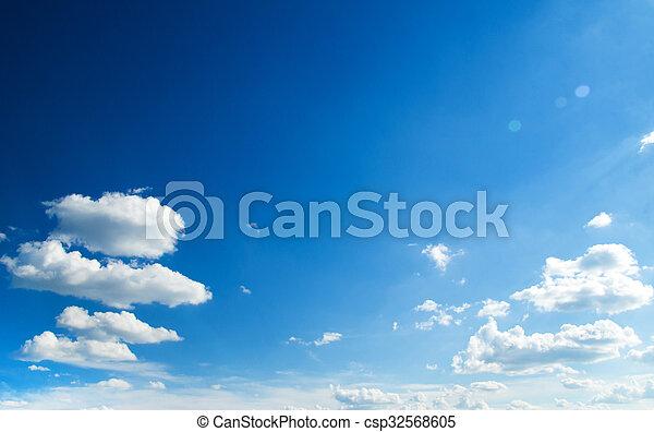 Blue sky background - csp32568605