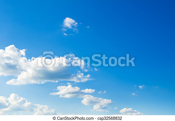 Blue sky background - csp32568832