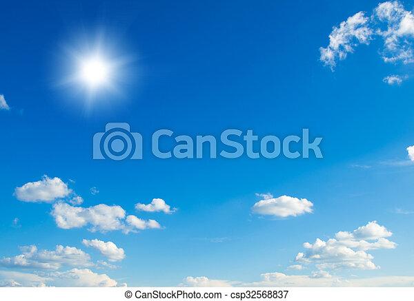 Blue sky background - csp32568837