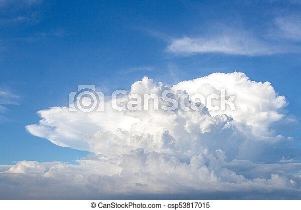 blue sky clouds - csp53817015