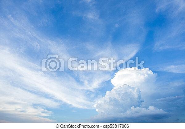 blue sky clouds - csp53817006