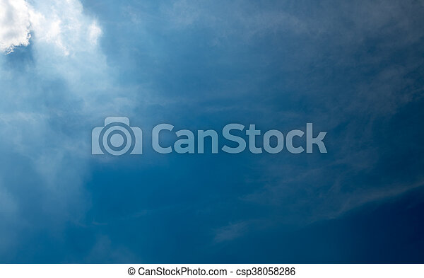 blue sky with cloud in Thailand - csp38058286