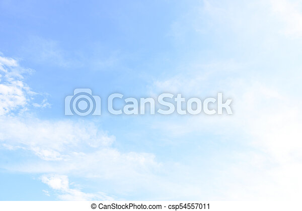 Blue sky with cloud in the morning. - csp54557011