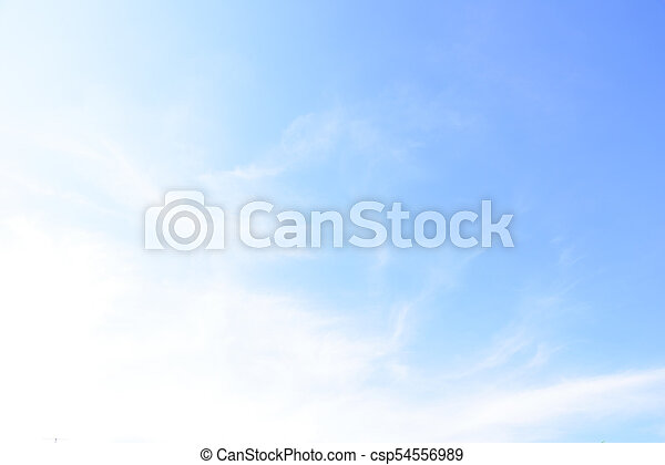 Blue sky with cloud in the morning. - csp54556989