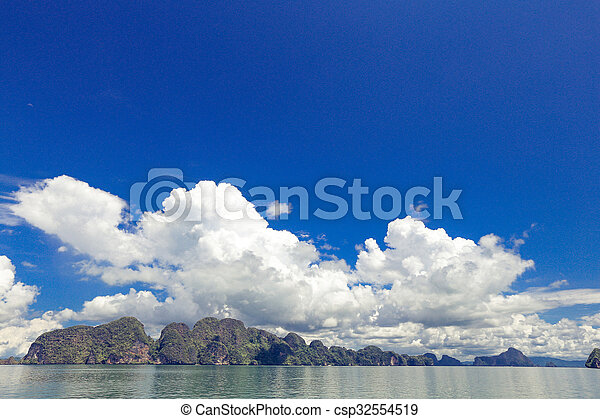 blue sky with cloud - csp32554519