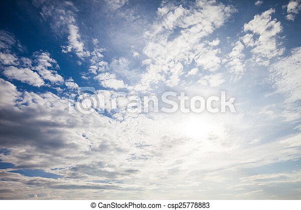 blue sky with cloud  - csp25778883