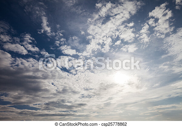 blue sky with cloud  - csp25778862