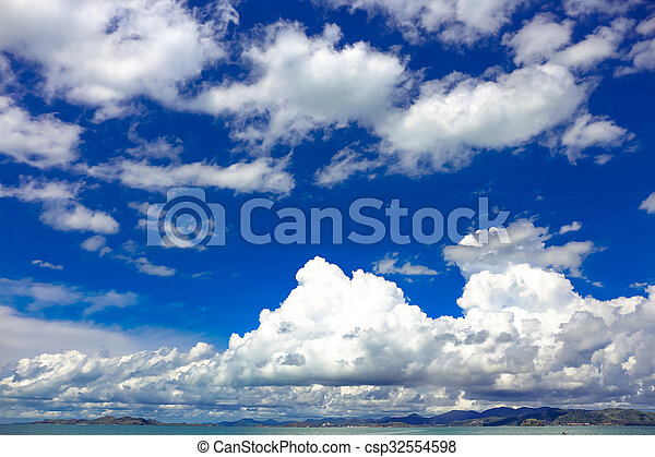 blue sky with cloud - csp32554598