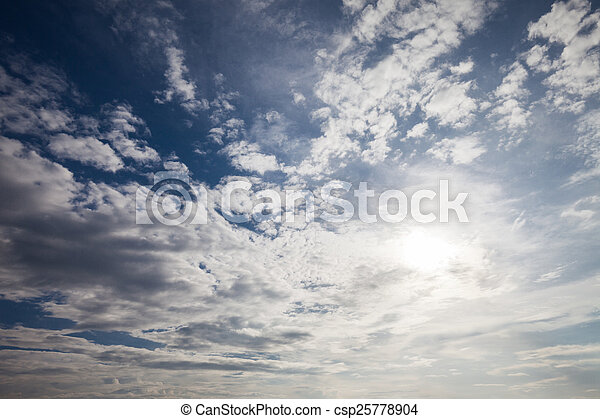 blue sky with cloud  - csp25778904