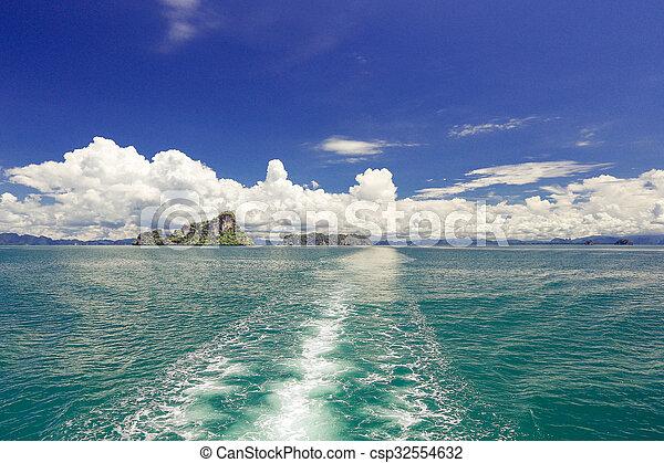 blue sky with cloud - csp32554632