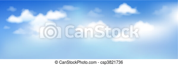 Blue Sky With Clouds - csp3821736