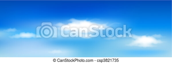 Blue Sky With Clouds - csp3821735