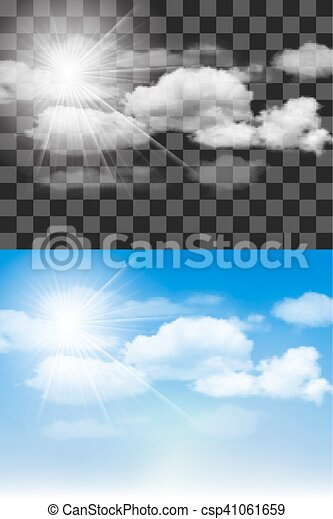 Blue sky with clouds. - csp41061659