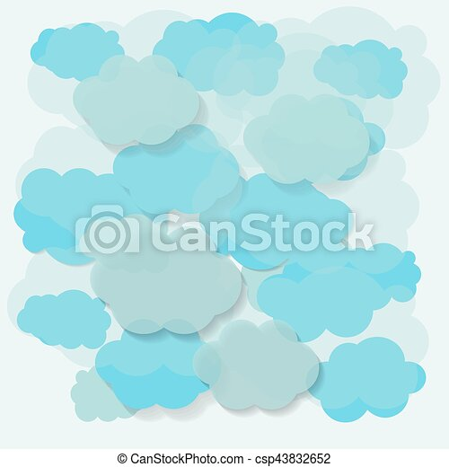 Blue sky with clouds - csp43832652