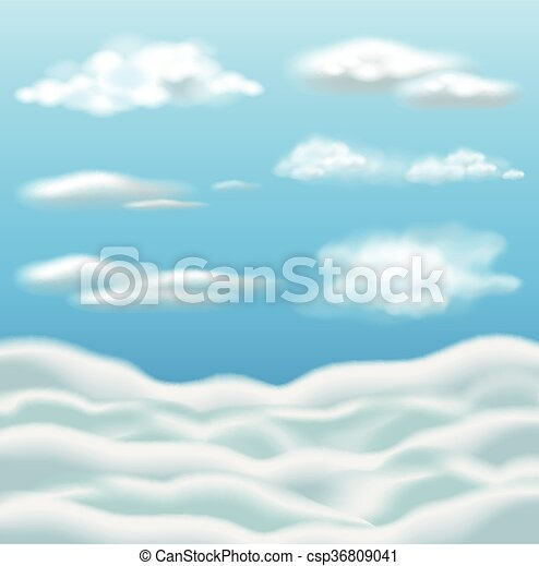 Blue sky with clouds - csp36809041