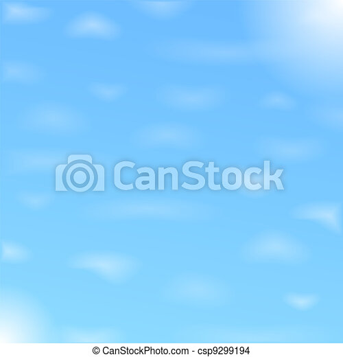 Blue sky with clouds - csp9299194