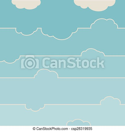 Blue sky with clouds. - csp28319935