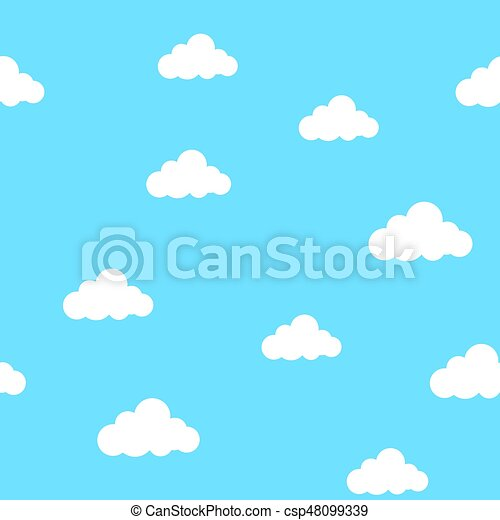Blue sky with clouds - csp48099339