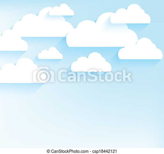 Blue sky with clouds - csp18442121