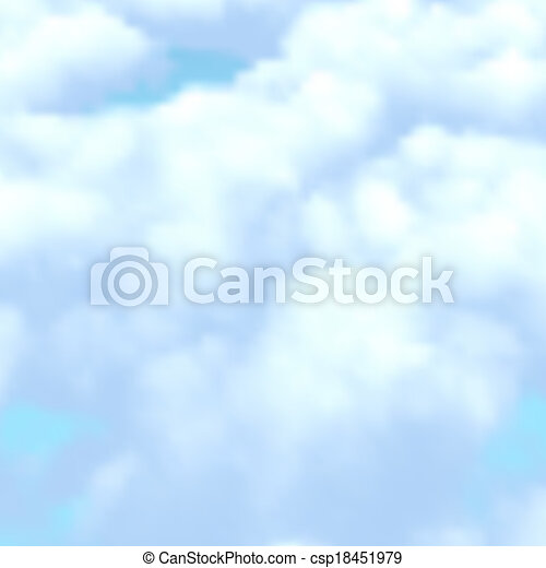 blue sky with clouds - csp18451979