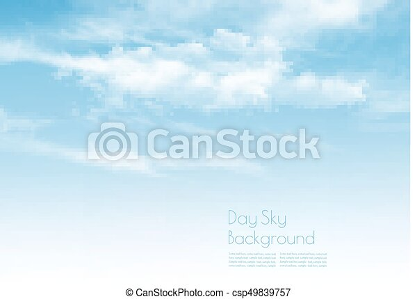 Blue sky with clouds. Nature background. Vector. - csp49839757