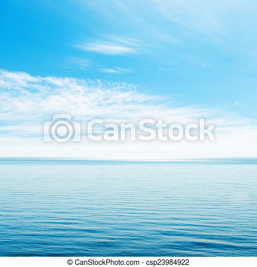 blue sky with clouds over sea - csp23984922
