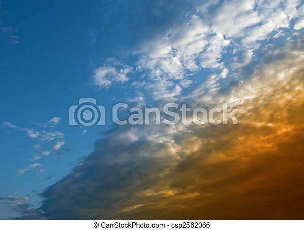 Blue sky with clouds - csp2582066