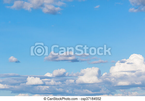 blue sky with clouds - csp37184552