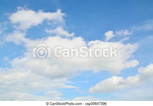 Blue Sky with Clouds - csp30647396