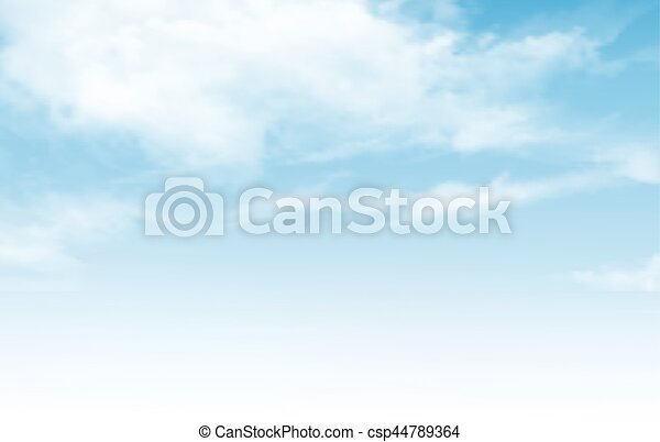 Blue sky with clouds. Vector background. - csp44789364