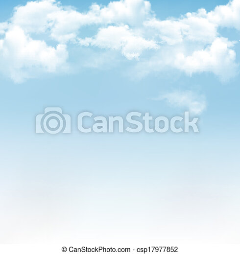 Blue sky with clouds. Vector background - csp17977852