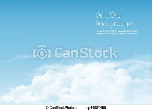 Blue sky with clouds. Vector background. - csp44887459