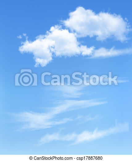 Blue sky with clouds. Vector background - csp17887680