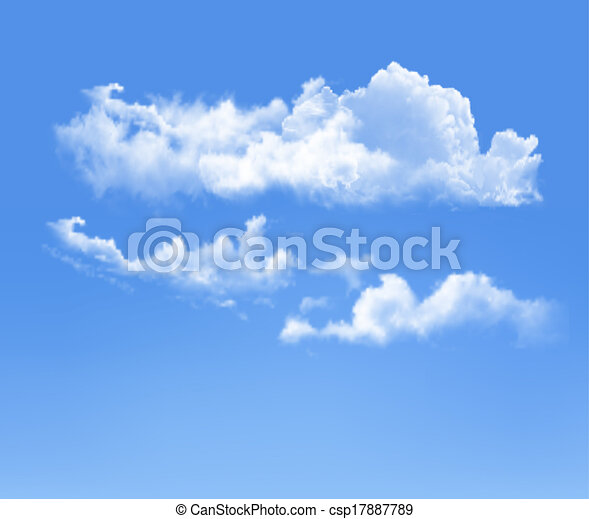 Blue sky with clouds. Vector background - csp17887789