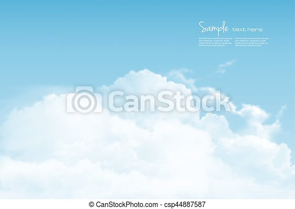 Blue sky with clouds. Vector background. - csp44887587