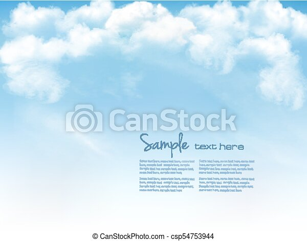 Blue sky with clouds. Vector background - csp54753944