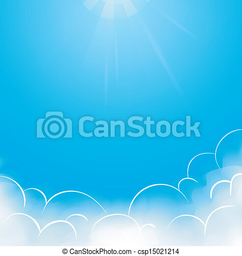 Blue sky with clouds - csp15021214