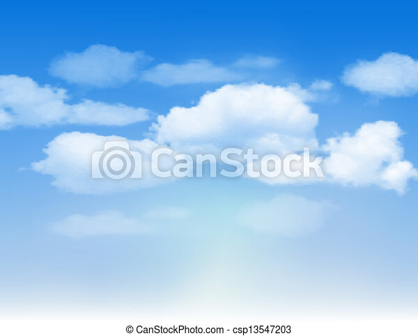 Blue sky with clouds. - csp13547203