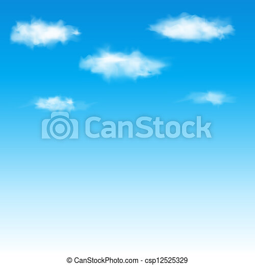 Blue sky with clouds. Vector illustration. - csp12525329