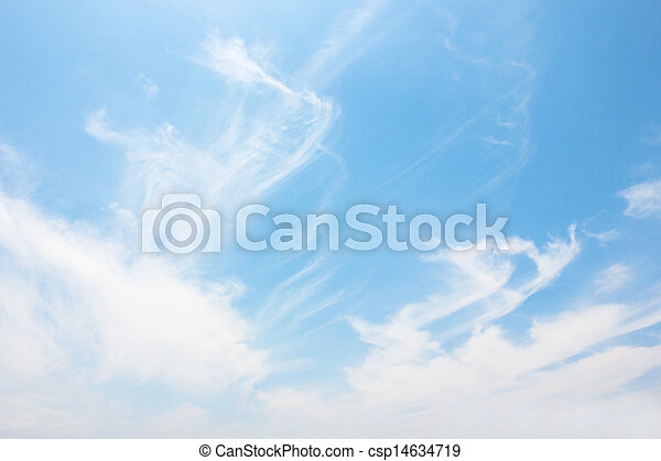 Blue sky with white cloud - csp14634719