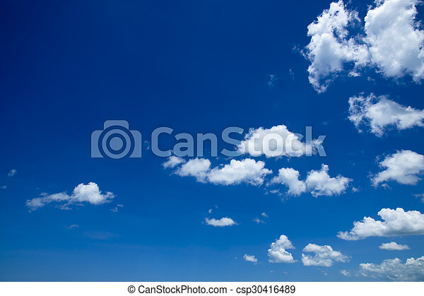 Blue sky with white cloud - csp30416489