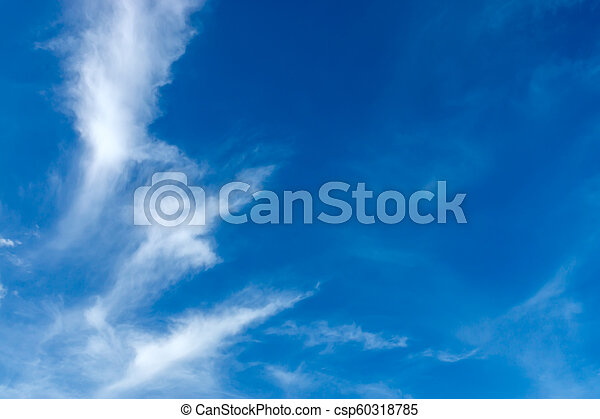 Blue sky with white cloud - csp60318785